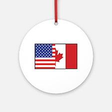 USA/Canada Ornament (Round)