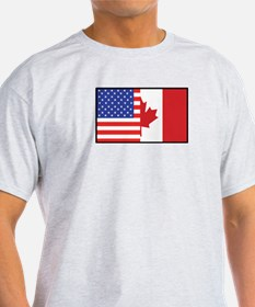 USA/Canada Ash Grey T-Shirt