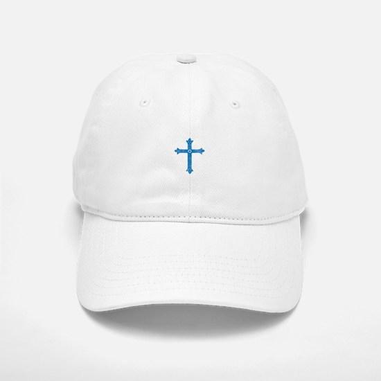 Pretty blue christian cross 1 L k Baseball Baseball Baseball Cap