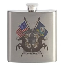 Navy Mustang Emblem Flask
