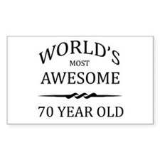 World's Most Awesome 70 Year Old Decal