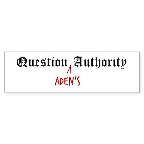Question Aden Authority Bumper Sticker