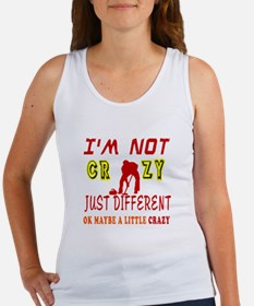 I'm not Crazy just different Curling Women's Tank