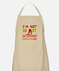 I'm not Crazy just different Curling Apron