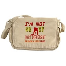 I'm not Crazy just different Curling Messenger Bag