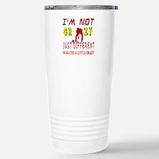 I'm not Crazy just different Curling Travel Mug