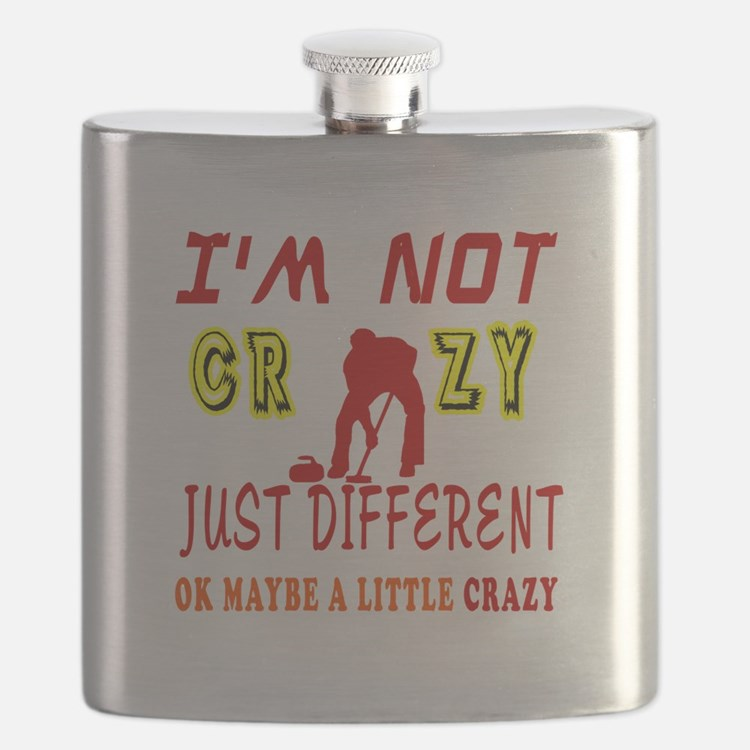 I'm not Crazy just different Curling Flask