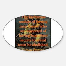 The Barbarous Custom - Napoleon Sticker (Oval)