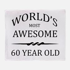 World's Most Awesome 60 Year Old Throw Blanket