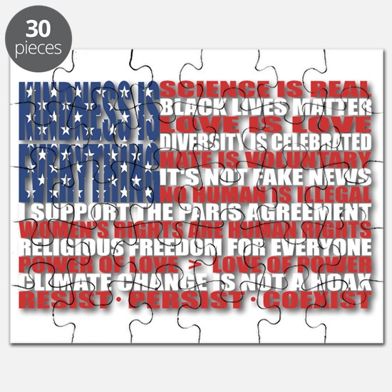 Political Protest American Flag Puzzle