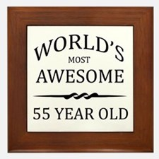 World's Most Awesome 55 Year Old Framed Tile
