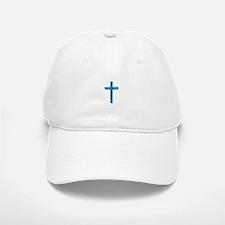 Pretty blue christian cross 1 U A Baseball Baseball Baseball Cap
