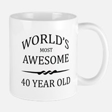World's Most Awesome 40 Year Old Small Small Mug