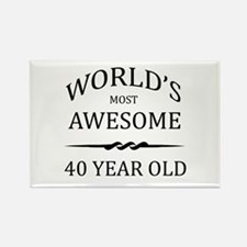 World's Most Awesome 40 Year Old Rectangle Magnet