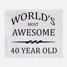 World's Most Awesome 40 Year Old Throw Blanket