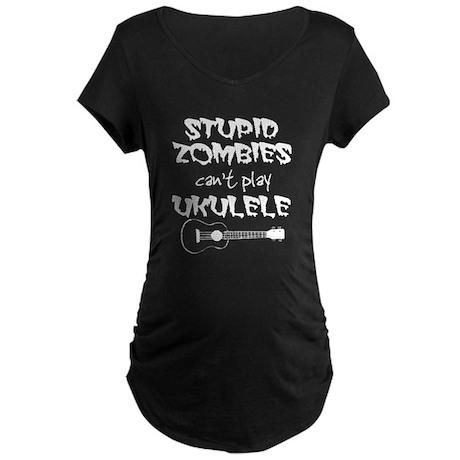Stupid Zombie Maternity T-Shirt