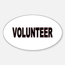 VOLUNTEER Items Oval Decal
