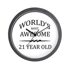 World's Most Awesome 21 Year Old Wall Clock