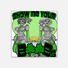 Show me your boobs St Patrick's Day Sticker