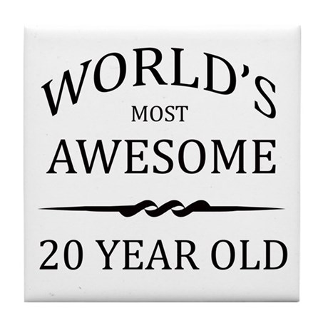 World's Most Awesome 20 Year Old Tile Coaster