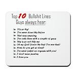Top 10 Bullshit lines Mousepad