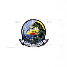 VFA 95 Green Lizards Aluminum License Plate
