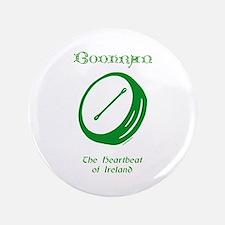 "Irish Bodhran 3.5"" Button"