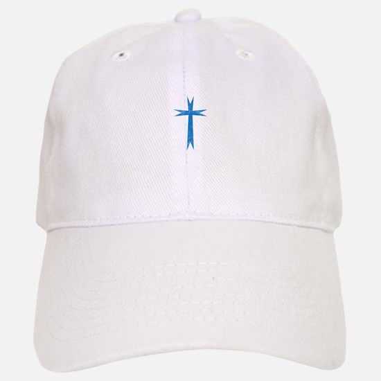 Pretty blue christian cross 1 U K Baseball Baseball Baseball Cap