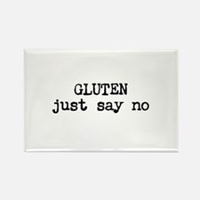 GLUTEN just say no Rectangle Magnet