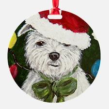 Santa Westie Ornament