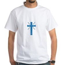 Pretty blue christian cross 1 U P T-Shirt