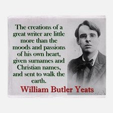 The Creations Of A Great Writer - Yeats Throw Blan