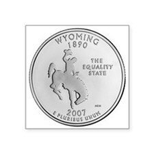 2007 Wyoming State Quarter Rectangle Sticker
