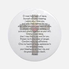 Sacred Heart of Jesus Cross Ornament (Round)
