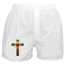 Sacred Heart of Jesus Cross Boxer Shorts