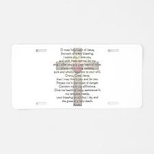 Sacred Heart of Jesus Cross Aluminum License Plate