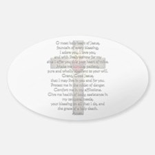 Sacred Heart of Jesus Cross Decal