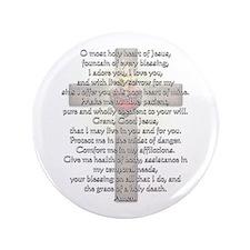 "Sacred Heart of Jesus Cross 3.5"" Button"