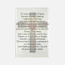 Sacred Heart of Jesus Cross Rectangle Magnet