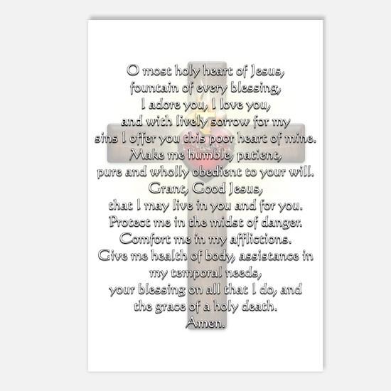 Sacred Heart of Jesus Cross Postcards (Package of