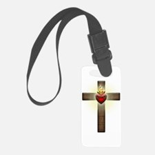 Sacred Heart of Jesus Cross Luggage Tag