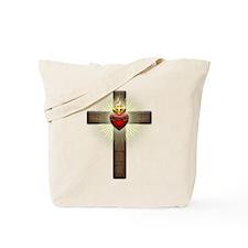 Sacred Heart of Jesus Cross Tote Bag