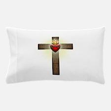 Sacred Heart of Jesus Cross Pillow Case