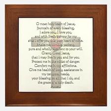 Sacred Heart of Jesus Cross Framed Tile