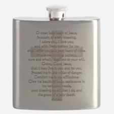 Sacred Heart of Jesus Cross Flask