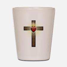 Sacred Heart of Jesus Cross Shot Glass