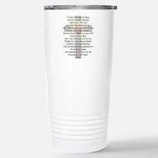 Sacred Heart of Jesus Cross Travel Mug