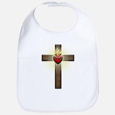 Sacred Heart of Jesus Cross Bib