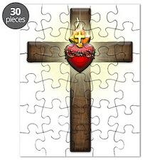 Sacred Heart of Jesus Cross Puzzle