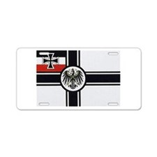 Cool Magnetic flag Aluminum License Plate